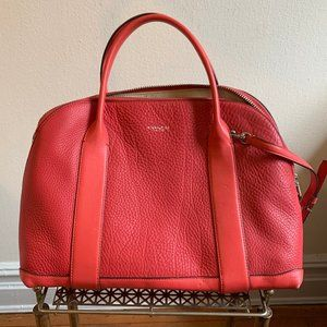 Hot pink / red Coach satchel